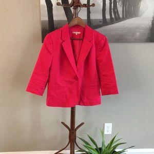 Blazer sale! Pink linen blend blazer